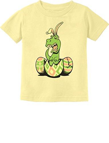 Tstars T-Rex Bunny Easter Egg Funny Gift For Easter Toddler/Infant Kids T-Shirt 4T Banana (Easter Bunny Yellow T-shirt)