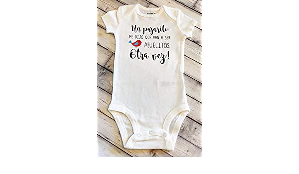 guess what baby coming soon spanish bodysuit baby announcement bodysuit pregnancy reveal Abuelitos grandparents Hola abuelitos baby bodysuit pregnancy bodysuit IVF surprise pregnancy