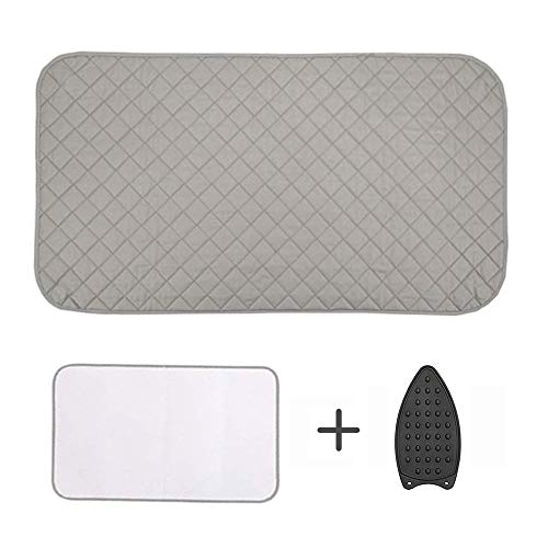 GYHOMCY Ironing Mat Ironing Pad Portable Travel Ironing Blanket with 4 pcs Corner Magnetic for Table Top,Washer,Dryer,Ironing Station,Countertop with Silicone Pad and Mesh Cloth (19 x 33 inch)