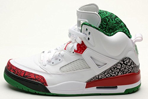 (NIKE Jordan Mens Spizike White/Varsity Red-Cement 315371-125 10.5)