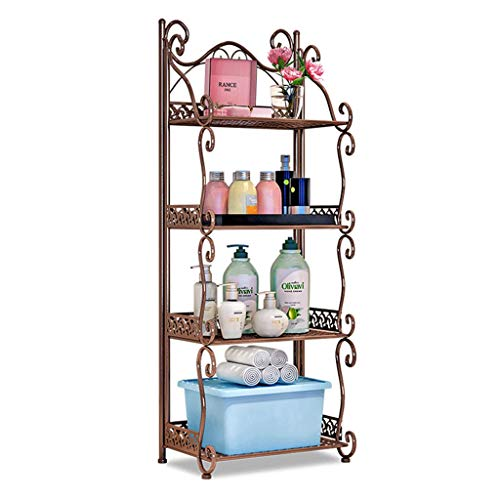 Washbasin Stand - WFL Kitchen Bathroom Shelf Shelving Units Multi-Function Iron Art Home Living Room Kitchen Storage Shelf Bathroom Washbasin Stand Floor-Standing Grocery Rack Multipurpose Shelf Display Rack