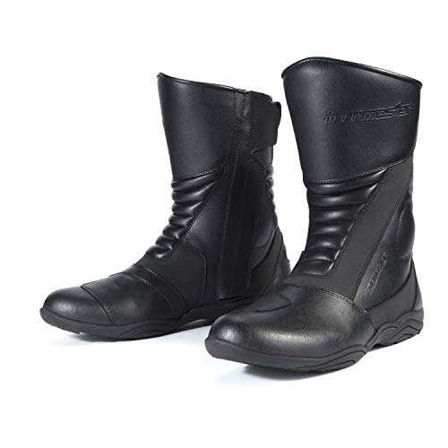 - Tour Master Solution WP 2.0 Road Mens Leather Street Motorcycle Boots - Black/Size 7