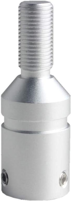 DEWHEL Custom Aluminum Universal Shift knob Shifter Adapter for Non Threaded Shifters BMW Mini M12X1.25 Silver