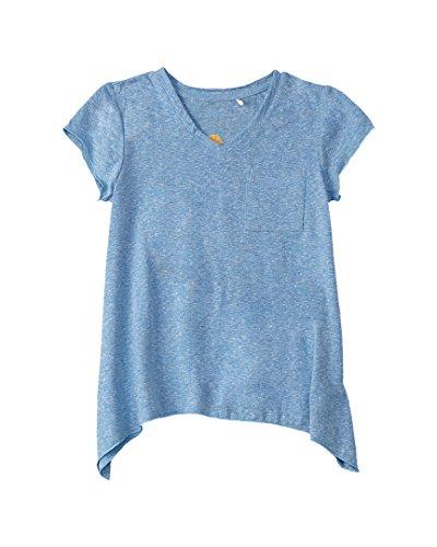 Pocket California C&c (C&C California Kids Girl's V-Neck Tee (Little Kids/Big Kids) Sea Blue Heather T-Shirt)