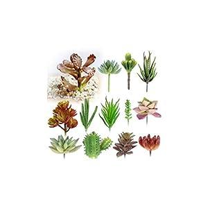 Micro Multi-Color Artificial Flowers Ornaments Artificial Succulents Plants Wedding Home Garden Decoration 29