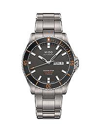 Mido Men's Ocean Star 42mm Silver-Tone Titanium Bracelet & Case Automatic Analog Watch M026.430.44.061.00