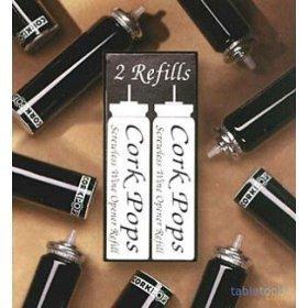 2 Nachfüllkartuschen für Weinflaschen-Korkenheber by CorkPops