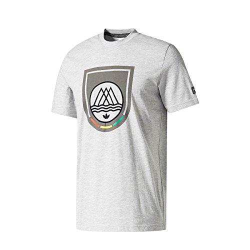 T-shirt Uomo Adidas Mod Trefoil Grigio Heather Bq2561