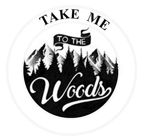 TAKE ME to The Woods Die Cut Auto Car Vinyl Decal Sticker Explore Nature Outdoor Adventure National Park Explore Series Emblem Badge DIY Application ()