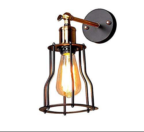 Iluminación decorativa jaula de alambre lámpara de pared lámpara ...