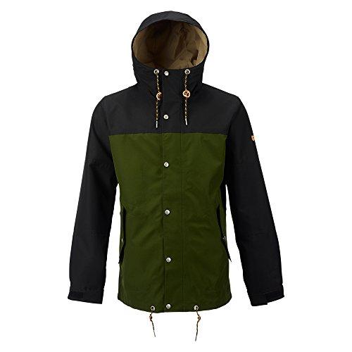 Green Snowboard Jacket (Burton Notch Jacket, True Black/Rifle Green, Medium)
