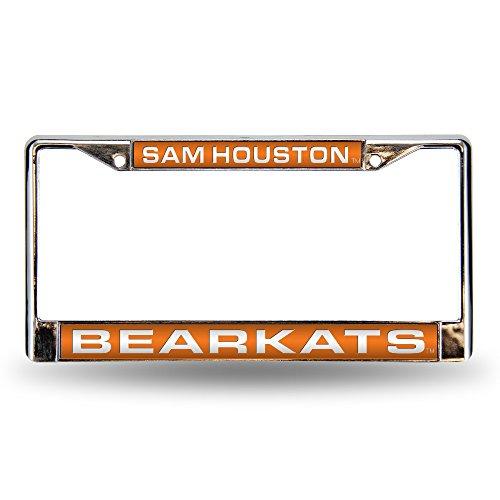 Rico Industries NCAA Sam Houston State Bearkats Laser Cut Inlaid Standard Chrome License Plate Frame