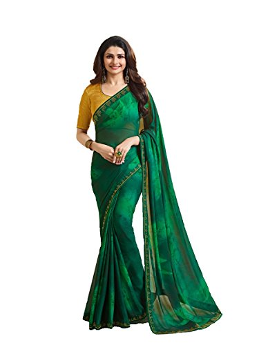Indian Sari Fashion New Collection Designer Ethnic Simple Look Saree Starwaik 33 (Green)