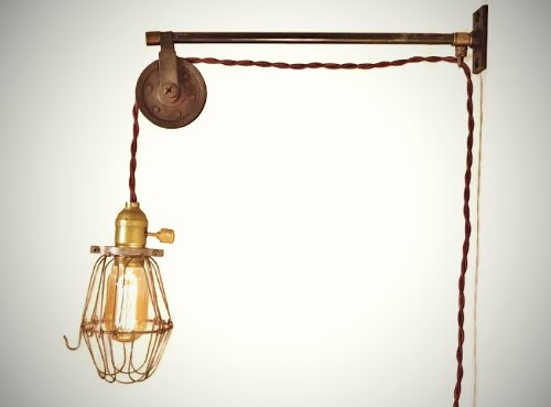 vintage-industrial-pulley-lamp-w-bulb-cage