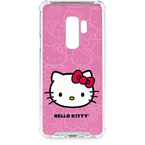 d03f89b8e Image Unavailable. Image not available for. Color: Skinit Hello Kitty Face  Pink Galaxy S9 Plus Clear Case ...