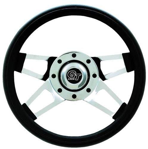 3G Golf Cart Steering Wheel Challenger Black Grip CHR - Chr Spoke