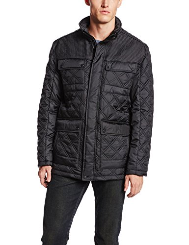Marc New York by Andrew Marc Men's Patton Four Pocket Quilted Jacket, Black, Medium