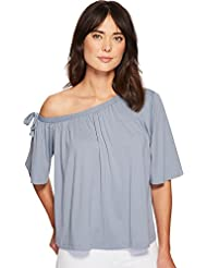 Susana Monaco Womens Kerena Off Shoulder Gathered Top