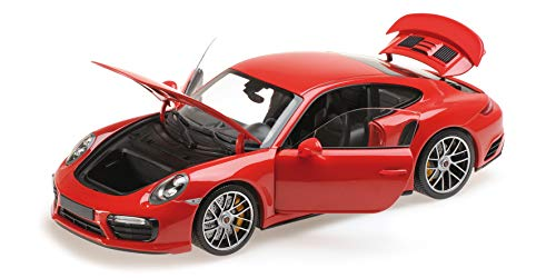 Minichamps 2016 Porsche 911 Turbo S Red Limited Edition to 504 Pieces Worldwide 1/18 Diecast Model Car 110067122 -