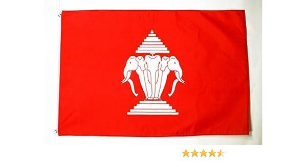 AZ FLAG Bandera de Laos Antigua 150x90cm - Bandera LAOSIANA Antigua 90 x 150 cm: Amazon.es: Jardín
