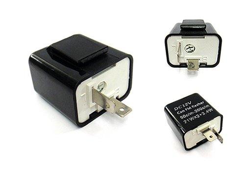 2-Pin LED-Signal-Anzeige mit einstellbarer Blinkfrequenz, Blinkgeber Relais Widerstand Fix Fast Flash Motorrad LUFFY