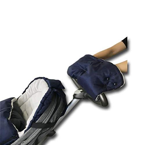 Cozyme Winter Water Windproof Warm Stroller Hand Muff, Stroller Accessory Hand Warmer,Navy Blue