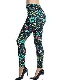 Women's Printed Leggings Full-Length Regular Size Yoga...