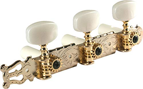Antique Gold Lyra-Type Gotoh Classical Guitar Tuners by Gotoh