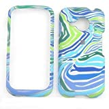Blue/Green Zebra Print Design Snap-on Faceplate Case Cell Phone Cover For HTC Droid Eris