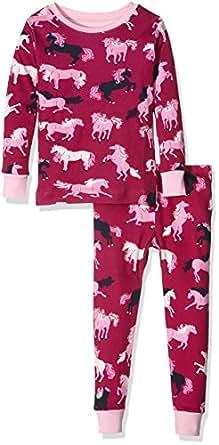 Hatley Girls' Printed Pajama Set, Fairy Tale Horses,2