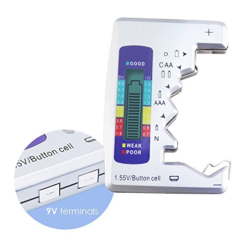 Digital Universal Battery Tester Battery Checker for C AA AAA D N 9V 1.5V ButtonCell Small Mini Batteries