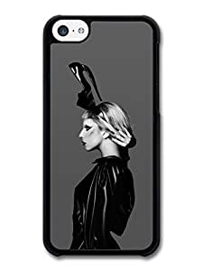 AMAF ? Accessories Lady Gaga Shoe Hat Black & White Born This Way case for iPhone 5C