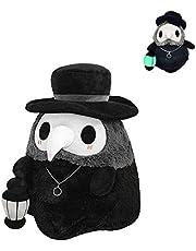 Creative Fluffy Plague Doctor, Squishable Luminous Plush Plague Doctor Doll, Cartoon Animal Plague Doctor Beak Stuffed Plush Toy, Crystal Glowing Doll Toy for Kids, Girls, Boys