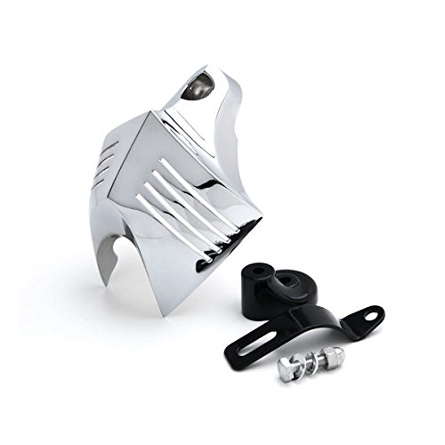 Krator NP006 Cover (Harley Davidson Motorcycle Chrome Big Twins Stock Cowbell Horns (1992-2013))