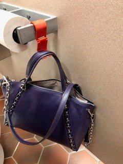 Blue YouHook Fold Up Restroom Purse Hanger