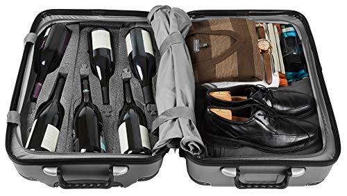 Vin Garde Valise Grande (Standard Size) | Wine Travel Suitcase | All-purpose Luggage | Up to 12 Bottles