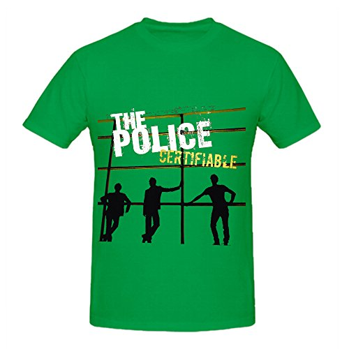 Sleeve Tropical Police Shirt (The Police Certifiable Live In Buenos Aires 80s Mens Round Neck Casual Shirt)