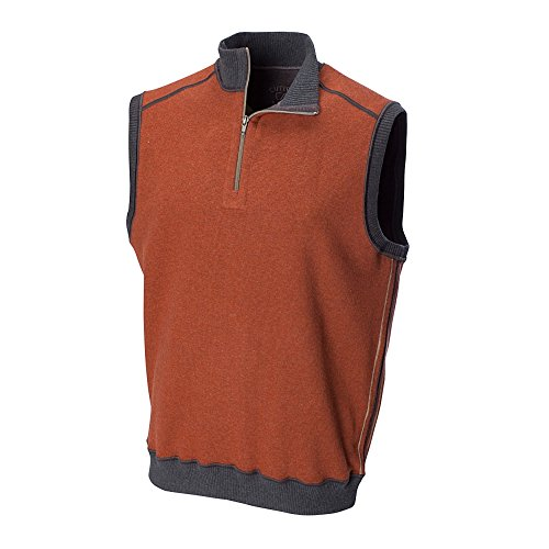 Cutter & Buck BCK00508 Mens Essex Reversible Half Zip Vest (4X Big, Setter/Charcoal)