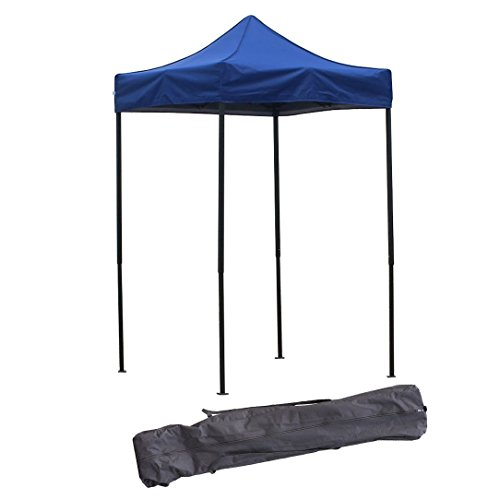 American Phoenix Canopy Tent 5×5 feet Party Tent Gazebo Canopy Commercial Fair Shelter Car Shelter Wedding Party Easy Pop Up (Blue)