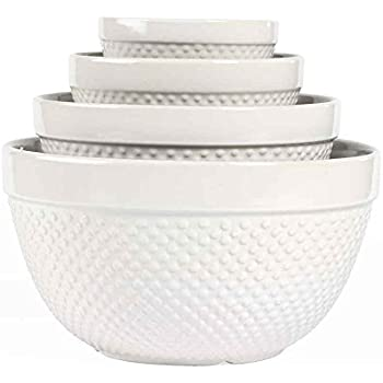 Amazon Com 4 Piece Hobnail Mixing Bowl Set By Tabletops