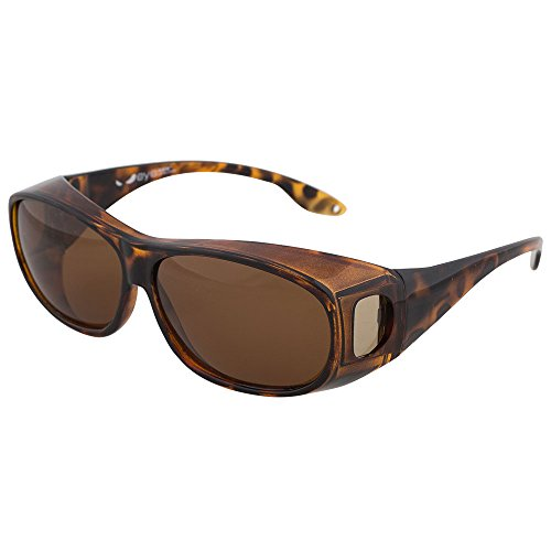Fitover Sunglasses, Polarized Lens Cover For Eyeglasses and Prescription Glasses to Reduce Glare and Shade Eyes, Stylish and Comfortable By Dackers (Tortoise, 1 - Sunglasses Glare For