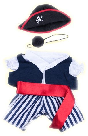 [Pirate w/Eye Patch and Hat outfit Teddy Bear Clothes Fit 14