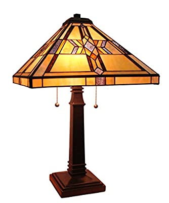 Fine Art Lighting Tiffany Table Lamp, 16 by 25-Inch, 232 Glass Cuts