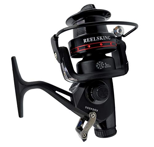 Sensu KGG Spinning Reel - 5.2:1 Hi-Speed Gear Ratio, Freshwater and Saltwater Fishing Reel, Braid Ready Spool, 13+1 Shielded Stainless Steel BB (Black, 3000)
