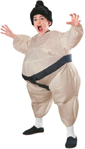 Sumo Suit Halloween Costume (Child's Inflatable Sumo Costume with Battery Operated Fan)