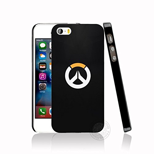 CH Black White Yellow Overwatch iPhone 6 Plus Sized Case Bigger Screen Over Watch I Phone 6S Plus Cover PC Gaming Theme Themed Computer Gun Game First Person Shooter Multiplayer Hard, Hard Plastic