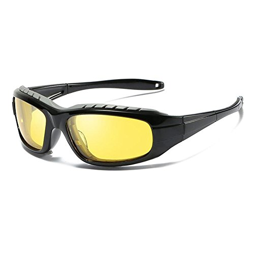 Anti Marco Clásico WYYY Aire Rompevientos Polarizada Amarillo Protección Redondo Gafas Solar Conducción De Hombres Libre UV UVA Gafas Color Luz De Sol Protección Negro Gafas 100 UOrUz