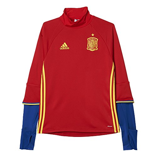 adidas Herren Langarm Shirt Uefa Euro 2016 Spanien Training, Scarlet/Bright Yellow/Collegiate Royal, L, AI4859
