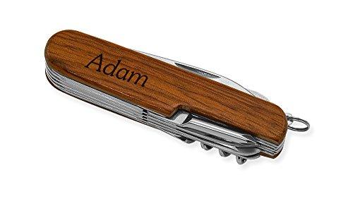 Dimension 9 Adam 9-Function Multi-Purpose Tool Knife, Rosewood