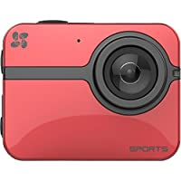 EZVIZ One Action Camera HD 1080P 60FPS WiFi Enabled (Red)
